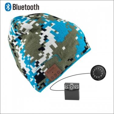 camouflage bluetooth beanie